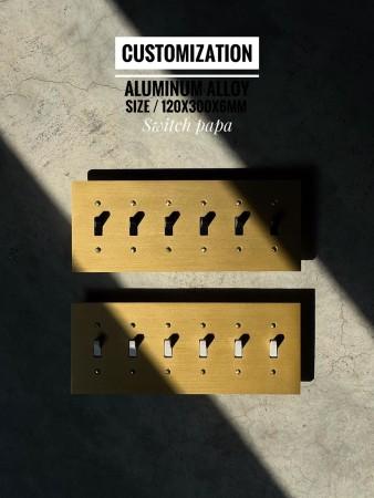 鋁合金陽極拉絲金美式指撥6開