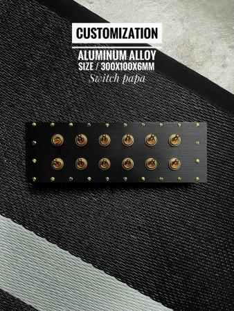 鋁合金陽極拉絲黑卯丁式復古黃銅12開