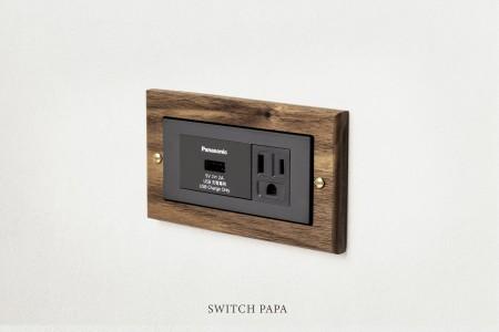 黑胡桃木Glatima-單充電插座加附接地單插