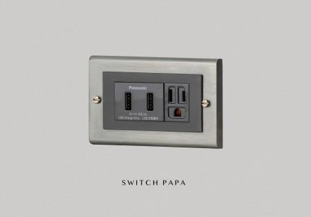 鋅合金鈦銀Glatima WTGF雙槽USB加附接地雙插座