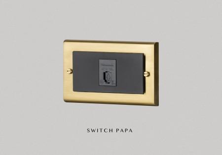 鋅合金銅金Glatima WTGF 2164H弱電單電話