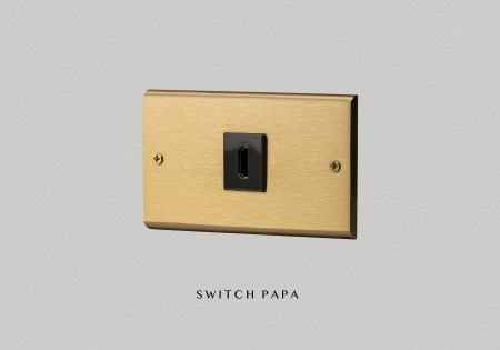 黃銅面板 弱電HDMI(L型)插座(國際牌)