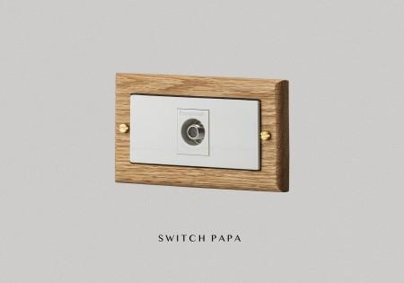 紅橡木弱電單電視插座