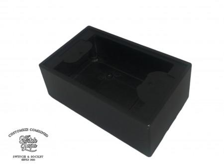 消光霧黑一聯鋁製明盒