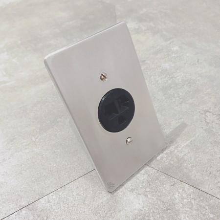 鋁合金圓形220冷氣插座
