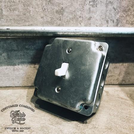 鍍鋅美規盒裝美式指撥單路1開(含盒)