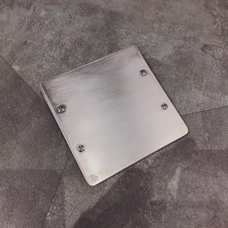 鋁合金手工研磨二聯盲蓋