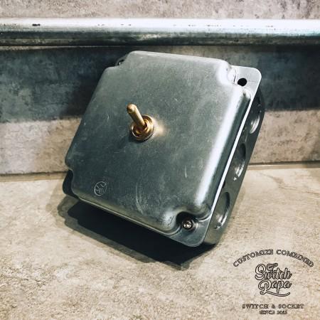 鍍鋅美規盒裝黃銅復古開關1開(含盒)