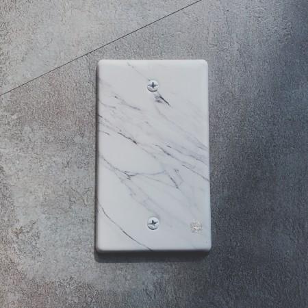 大理石紋一聯無孔盲蓋