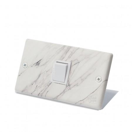 大理石紋日式方形指撥開關1開