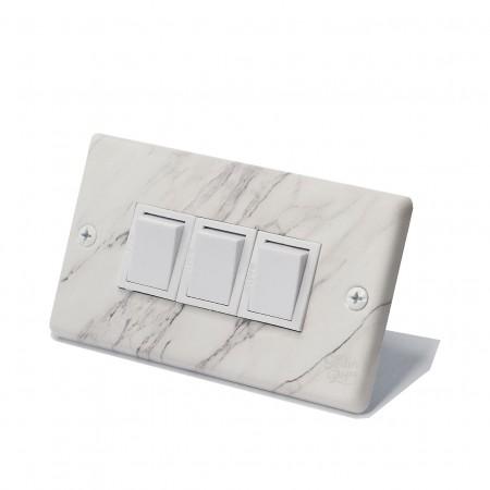 大理石紋日式方形指撥開關3開