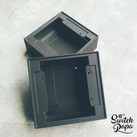 消光霧黑二聯鋁製明盒