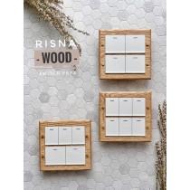 紅橡木二聯RISNA / GLATIMA實木框
