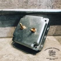 鍍鋅美規盒裝黃銅復古開關2開(含盒)