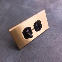 黃銅面板圓形指撥單路1開附接地1插