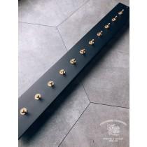 鋁合金消光霧黑面板 (555x70x8mm)復古黃銅11切