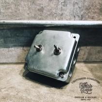 鍍鋅美規盒裝復古開關2開(含盒)