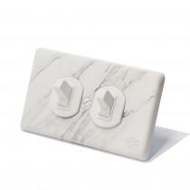 大理石紋美式圓形指撥單路2開