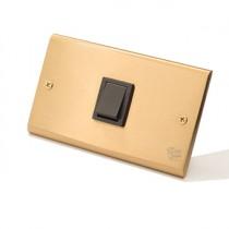 黃銅面板日式方形指撥1開
