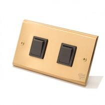 黃銅面板日式方形指撥2開(內有點選搭配選項)