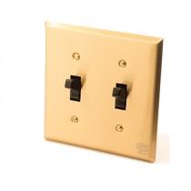黃銅面板美式指撥單路2開