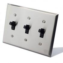 不鏽鋼美式指撥單路3開