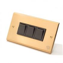 黃銅面板日式方形指撥3開(內有點選搭配選項)