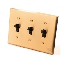 黃銅面板美式指撥單路3開
