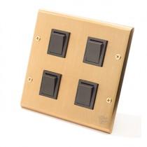 黃銅面板日式方形指撥4開(內有點選搭配選項)