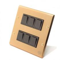 黃銅面板日式方形指撥6開