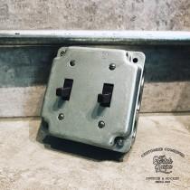 鍍鋅美規盒裝美式指撥單路2開(含盒)